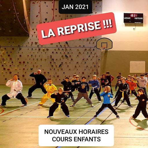 Reprise Enfants Janvier 2021